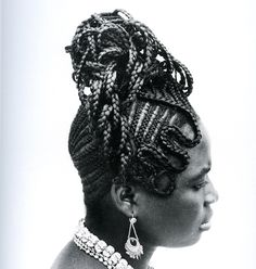 Vintage Nigerian Hairstyles Photographed By J.D. Okhai Ojeikere, Nigeria | In 1968, photographer J.D. 'Okhai Ojeikere started documenting Nigerian hairstyles and developed a collection of 1,000 portraits, simply titled Hairstyles. The pictures depict the real African woman, without any pretension and with captivating and spectacular beauty...