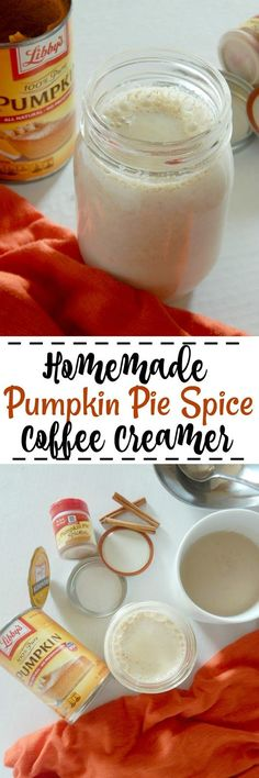 Homemade Pumpkin Pie Spice Coffee Creamer...a delicious, Fall-spiced coffee creamer, made in less than 10 minutes!