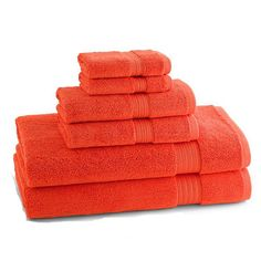Check out the deal on Blood Orange KassaDesign Egyptian Cotton Towel Ensemble at BedBathHome.Com