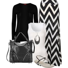 """""""Black & White"""" on Polyvore #affordablestyle"""
