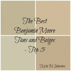 benjamin moore colors |  color scheme- the left one with warmer