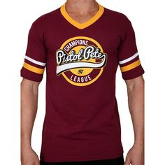 Pistol Pete Champions Short Sleeve Tee T-Shirt Red Wine Pistol Pete, Champions, Shirts, Tees, Short Sleeve Tee, Red Wine, Tank Tops, Stylish, Casual