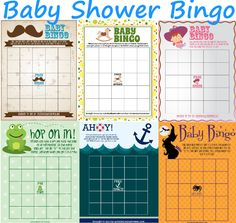 AMAZING, here we have 6 of our top free printable baby shower BINGO games for you to download today! #PrintableBingoGames #BabyShower http://printmybabyshower.com/baby-shower-bingo-printable-games-you-need/