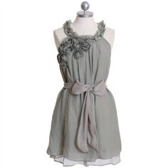 beautiful gray dress...and a body that would look good in this.  lol