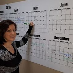 A giant, dry erase, wall calendar that you can plan an entire year on? Yes ple… – Dry Erase Calendar İdeas. Can Plan, How To Plan, Dry Erase Wall Calendar, Calendar Quotes, Calendar Organization, In The Heights, Lettering, Canning, Drawing Letters