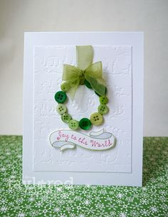Cute Christmas Card idea!  The Stampin' Bean: Joy to the World!...