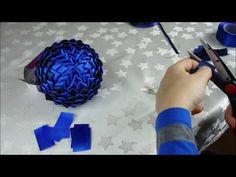 Jak zrobić bombkę styropianową ze wstążki - karczoch (tutorial) - YouTube