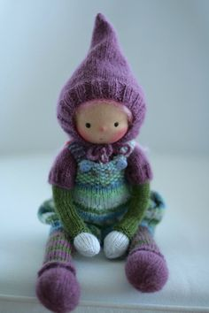 Reserved for J.  Waldorf knitted doll 13 by by danielapetrova