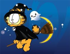 Find images and videos about Flying, Witches and garfield on We Heart It - the app to get lost in what you love. Garfield Halloween, Halloween Cat, Holidays Halloween, Happy Halloween, Garfield Cartoon, Garfield And Odie, Garfield Comics, Cartoon Books, Cartoon Memes