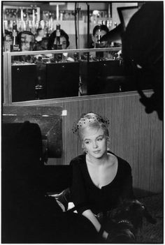 "Henri Cartier-Bresson  USA. Nevada. US actress Marilyn MONROE during the filming of ""The Misfits"" by John HUSTON. 1960"