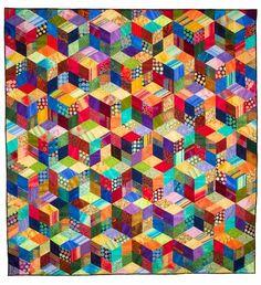 Die großen Tumbler Quilt Pattern    Dies ist eine überdimensioniert und funkelnden neuen Look mit dem klassischen Tumbling Blocks und Baby Blocks-Muster. Verwendeten Techniken sind schnell und Streifen piecing um perfekte Diamanten zu erreichen... keine Vorlagen benötigt. Die vereinfachte y-Naht-Konstruktion und Bau-Tipps helfen mit Montage, überschüssige Masse zu verhindern, wo Blöcke miteinander verbunden sind. Dies ist einer meiner beliebtesten Muster. Drei Sammelfläche Größen sind…