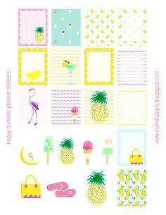 MeinLilaPark – DIY printables and downloads: Free printable summer planner stickers - ausdruckbare Etiketten - freebie
