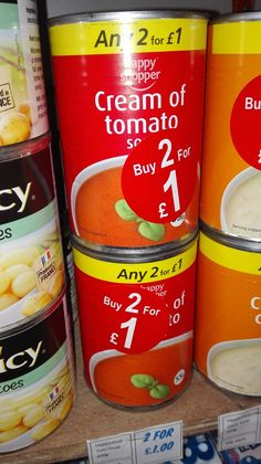 Happy Shopper Soup    Cream of Tomato flavour    400g    2 cans for £1.00    BB December 2017    Great with crusty bread   Shop this product here: http://spreesy.com/DiscountFoodsofLincoln/129   Shop all of our products at http://spreesy.com/DiscountFoodsofLincoln      Pinterest selling powered by Spreesy.com