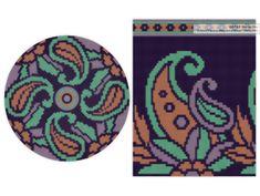 PATTERN: PAISLEY - Set of wayuu mochila patterns - wayuu bag pattern - mochila bag pattern - tapestry crochet pattern - CHARTED pattern Paisley Coloring Pages, Abstract Coloring Pages, Flower Coloring Pages, Mandala Coloring Pages, Coloring Sheets, Adult Coloring, Coloring Books, Tapestry Crochet Patterns, Knitting Patterns