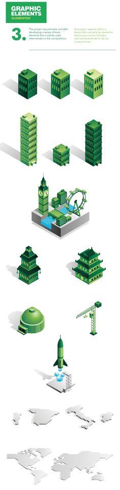 CBRE Animated Infographics by Mauco Sosa, via Behance