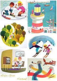 Illustrator Alain Grée   Happy memories of my childhood; books, memory game
