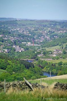 Holmfirth, Yorkshire, England. Fun place to be with all sorts of festivals and events, physcic fairs, poetry, art, welly wanging, UFO conventions, sixties and seventies groups, fold and much more...lsat of the summer wine tours...