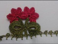 Tığ oyası modelleri; çok güzel tığ oyası modeli - YouTube Crochet Borders, Crochet Blanket Patterns, Baby Knitting Patterns, Baby Blanket Crochet, Crochet Stitches, Saree Kuchu Designs, Crochet Granny, Crochet Designs, Crochet Flowers