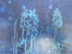 Mono-print plate. Bluebells, Lucy Hogg, 2013