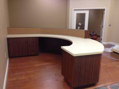 Round Reception Desk   Cedars Woodworking & Interior Painting, LLC