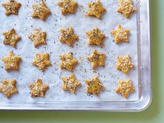 Kids Can Make: Healthy, Gluten-Free Cheesy Crackers Recipe : Food Network Kitchen : Food Network Food Network Recipes, Food Processor Recipes, Healthy Snacks For Kids, Healthy Eating, Easy Snacks, Healthy Food, Snacks Kids, Toddler Snacks, Savory Snacks