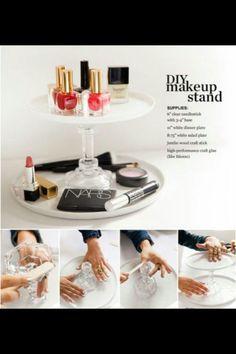 Diy make up stand