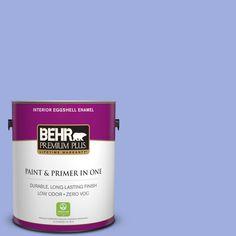 BEHR Premium Plus 1-gal. #P540-4 Lavender Sky Eggshell Enamel Interior Paint