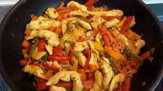 pollo al curry con verduras :p