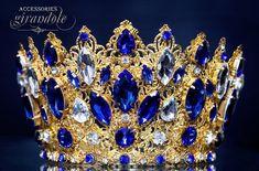 Exclusive tiara of the jeweler work Golden Gold Bridal Crowns, Bridal Tiara, Wedding Crowns, Corona Real, Romantic Photos, Crystal Crown, Royal Jewelry, Baroque Fashion, Fantasy Jewelry