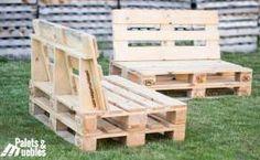 Handmade Pallet Furniture For Sale Pallet Garden Furniture, Pallet Furniture Designs, Diy Furniture, Diy Pallet Couch, Pallet Lounge, Pallet Chair, Pallet Walls, Diy Pallet Projects, Wooden Pallets