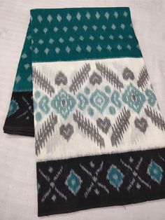 ikkat merceraized cotton sarees with blouse. | Elegant Fashion Wear