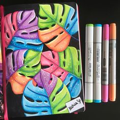 Tumblr Art Drawings, Paintings Tumblr, Cool Art Drawings, Colorful Drawings, Art Sketches, Copic Marker Art, Sketch Markers, Copic Sketch, Polychromos