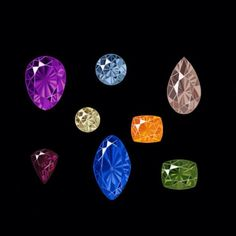 #Amethyst #BlueDiamond #Morganite #CapeDiamond #MandarinGarnet #Umbalite #Sapphire and #Peridot
