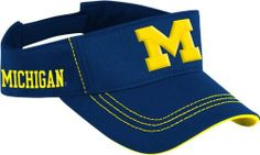 adidas Michigan Wolverines Navy Blue Sideline Coaches Adjustable Visor by adidas. $17.95. 98% polyester and 2% spandex for a satisfactory feel. Embroidered team name on the right side of the hat so people will see your team pride no matter what. Machine washable and easy to wear * Officially licensed. A traditional summertime classic, this visor is perfect for sunny days! This Michigan Wolverines Navy adidas 2011 Sideline Football Coaches Visor features vibrant team colors with...