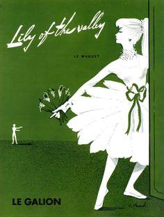 Publicité Muguet - Auteur : Claude Maurel - 1958