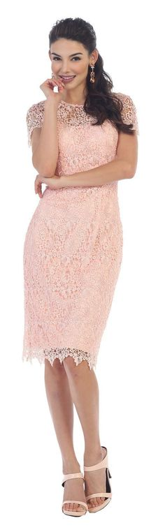Short Mother of the Bride Plus Size Formal Cocktail-The Dress Outlet