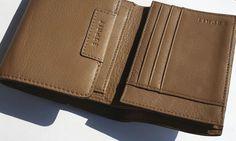 kožené dámske pňaženky | ESPRIT (Germany) - značková peňaženka - dámska - kožená (trifold) | NajŠperk.sk - šperky, oceľové šperky, klenoty, oceľové, náramky, retiazky, prívesky Wallet, Pocket Wallet, Handmade Purses, Diy Wallet, Purses