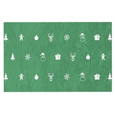 KESS InHouse Snap Studio 'Cheery Pattern Green' Mint Dog Place Mat, 13' x 18' ^^ Remarkable product available now. : Dog food container