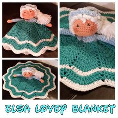 READY to SHIP  Elsa Lovey security blanket by LittleDebiSnack, $25.00
