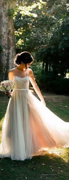 beautiful blush wedding gown