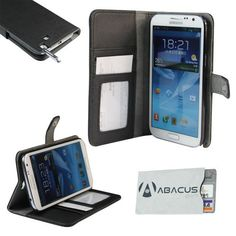 Fall Fashion Accessory for your New Samsung Galaxy Note 2 II/N7100: Elegant black vegan leather wallet-style case (Includes Identity Stronghold credit card protection sleeve) by Abacus 24-7, http://www.amazon.com/dp/B009E5O9UE/ref=cm_sw_r_pi_dp_LTjgrb1SDGGN8