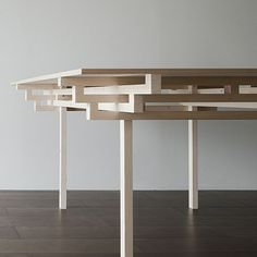 Clean and crisp table design influenced by Japanese architecture - Surprisingly thin table design chiuet table by design jay