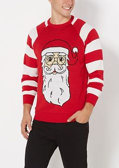 Santa Coat Ugly Holiday Sweater | rue21 | Holidays | Pinterest ...