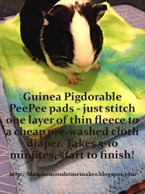 The Blasphemous Homemaker: Guinea Pig Cage Enhancements - Pee Pads