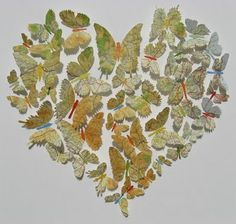 Butterflies made out of maps, made into a heart. Had to re-pin fro Tiffini! She'd love this made out of the places she's been! <3