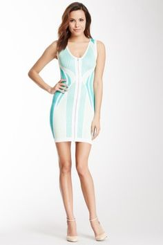 Wow Couture Front Zip Bandage Dress