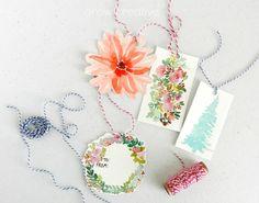 DIY watercolor gift tags: grow creative blog