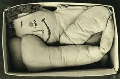 """mpdrolet: """" Love In A Box, 1978 Rondal Partridge """" Black N White Images, Black And White, Doll Parts, Partridge, Weird And Wonderful, Dolls, Photography, Inspiration, Puppets"""