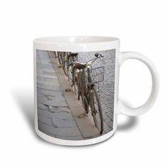 3dRose Bicycles at curb, Ferrara, Emilia Romagne, Italy - EU16 DBN0146 - David Barnes, Ceramic Mug, 15-ounce