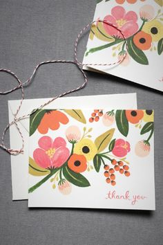 Pink Berry Thank You Cards (8)